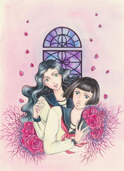昭和初期女学生漫画カラー.jpg