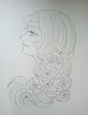 薔薇の髪飾りの乙女メイキング.JPG
