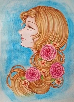 薔薇の髪飾りの乙女メイキング5.JPG