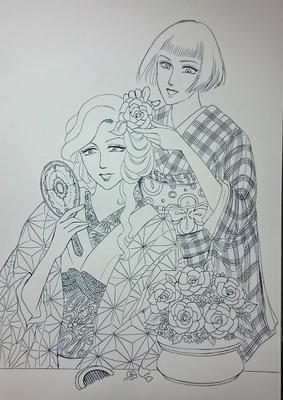 お花の髪飾りメイキング2.JPG
