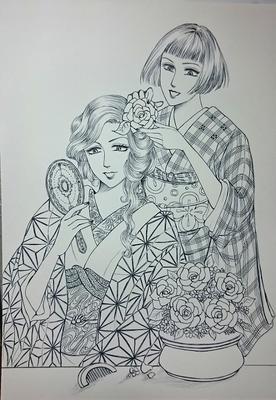 お花の髪飾りメイキング3.JPG