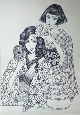 お花の髪飾りメイキング4.JPG