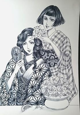 お花の髪飾りメイキング5.JPG
