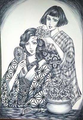 お花の髪飾りメイキング6.JPG