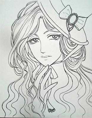 アンニュイな帽子の少女メイキング1.JPG