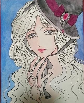 アンニュイな帽子の少女メイキング2.JPG