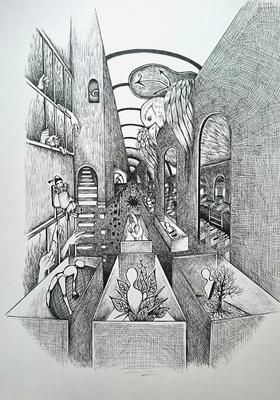 ペン画でシュルレアリスム_メイキング6.JPG