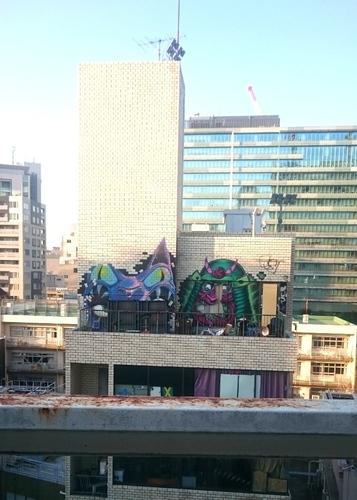 渋谷東急ハンズの向かいの変な建物.JPG