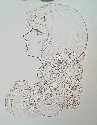 薔薇の髪飾りの乙女メイキング2.JPG