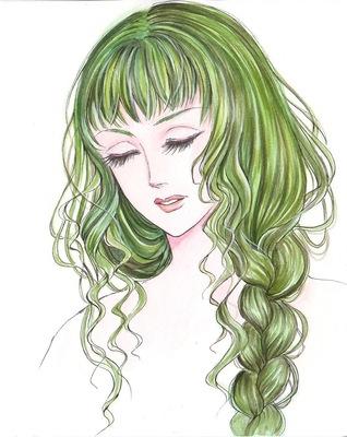 透明水彩とガッシュ髪の毛.jpg